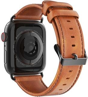 Dux Ducis Apple Watch Series 4/3/2/1 Læderrem - 42mm, 44mm - Brun