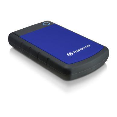 """Transcend Transcend 2,5"""" ekstern harddisk 1TB, USB 3.0, blå"""