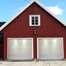 Garageport med fjärrstyrning - 2500x2125mm | Vit