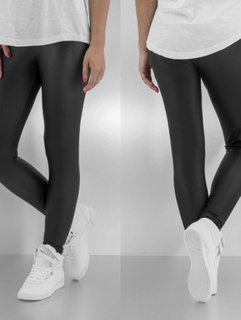 Pieces Kvinder Leggings/Treggings New Shiny i sort, S/M