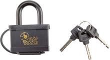 Hänglås 60 mm, plastöverdrag - 3 nycklar