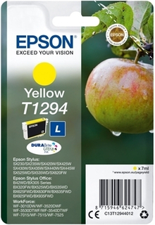 Original blækpatron Epson T1294 7 ml Gul