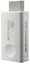 Wii HDMI 3.5mm Audio Full HD Omformer / Adapter - Hvid