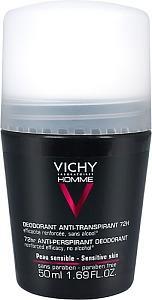 Vichy Homme Antiperspirant Deo 72H, 50 ml
