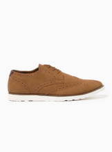 Tan Faux Suede Magic Brogues