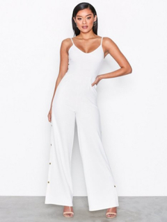NLY One Side Button Jumpsuit Jumpsuits Vit