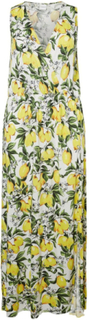 JUNAROSE All Over Printed Maxi Dress Kvinna White