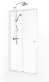 Macro Flow Nisch 2D 80-85 cm Klarglas Vit