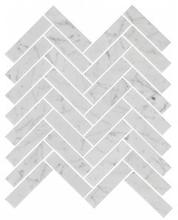 Bricmate U Fishbone Carrara Polished Marmormosaik 23x98