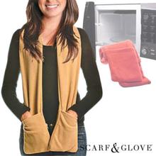 Scarf & handske för mikrovågsugn | Scarf med fickor