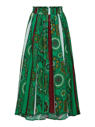 ONLY Printed Maxi Skirt Women Green