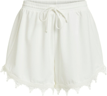 VILA Lace Detailed Loose Fit Shorts Women White