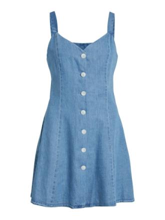VILA Denim Sleeveless Dress Women Blue