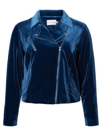 JUNAROSE Velvet Jacket Women Blue