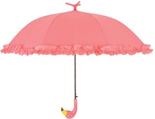 Esschert Design Paraply med volanger Flamingo 98 cm rosa TP203