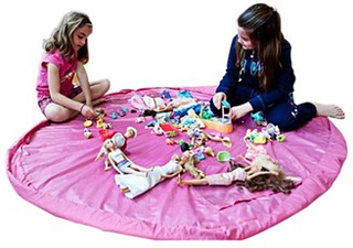 Leksak teppe 35 cm / Förvaringsväska - Rosa