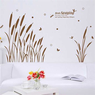 TipTop Wallstickers Swaying Reeds Pattern