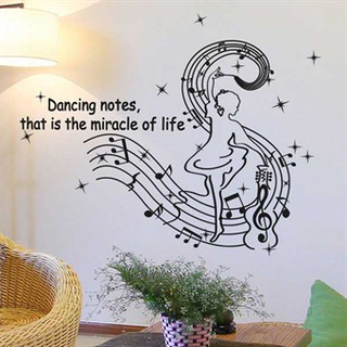TipTop Wallstickers Dancing Notes Pattern