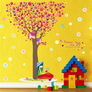 TipTop Wallstickers Color Dream Tree Pattern
