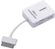 5 i en USB 2.0 kortläsare för Samsung Galaxy Tab 10.1 (vit)