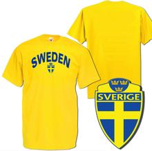Sweden gul sverige t-shirt med tryck