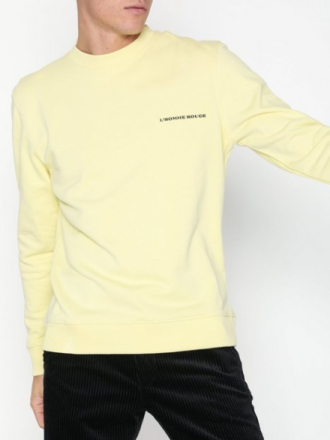 L'Homme Rouge Needs Logo Sweater Puserot Yellow