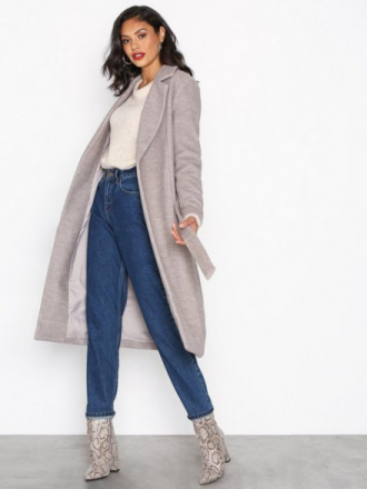 Only onlAMY Sharon Long Wool Coat Cc Otw Vaaleanruskea