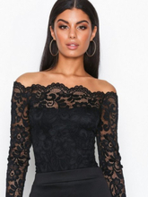 NLY One Off Shoulder Lace Body Musta