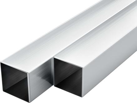 vidaXL Aluminiumrör 6 st fyrkantig 1m 40mm