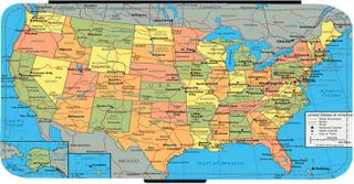 Karta Över Usa Iphone 11 Plånboksfodral