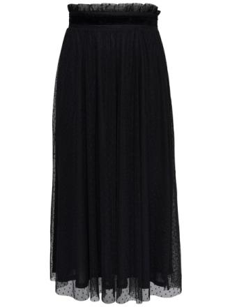 ONLY Mesh Maxi Skirt Women Black