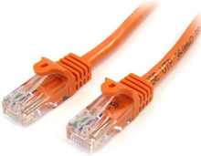 Cat5e patchkabel med hakfria RJ45-kontakter – 1 m, orange
