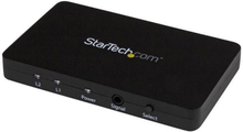 2-portars HDMI automatisk videoswitch med aluminiumhölje och MHL-stöd – 4K 30Hz