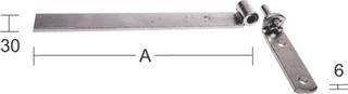 Hakgångjärn Habo 212 600mm Galvad