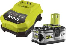 Laddare och Batterikit Ryobi RBC18L50 18V 5,0Ah