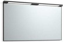 Svedbergs Top-mirror speil med LED-belysning, 120 cm, Sort eik