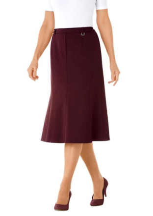 Klassisk kjol röd 50 by Atelier Goldner Schnitt