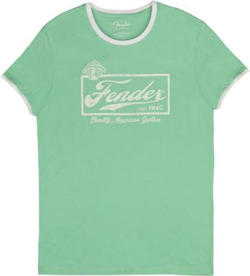 Fender T-Shirt Ringer Mint Green S
