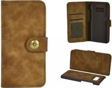 Plånboksfodral/väska till Samsung S8 PLUS med kort Brun
