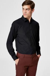 Performance skjorte - Slim fit - Sort