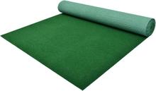vidaXL Konstgräs med halkskydd PP 10x1,33 m grön