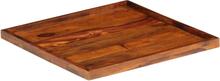 vidaXL Serveringsbricka massivt sheshamträ 50x50 cm