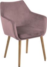 Velour stol rosa - udgået model OU551