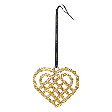Rosendahl Copenhagen - Braided Christmas Heart 10,8 cm, Gold