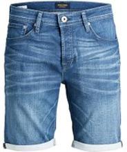 JACK & JONES Indigo Knit-sydda Jeansshorts Man Blå