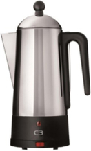 Design Eco - electric percolator - black/brushed stainless steel
