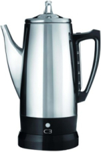 Basic Eco - electric percolator - bright stainless steel