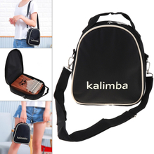 17 / 15 / 10 Key Black Universal Kalimba Storage Bag Thumb Piano Mbira Soft Case Oxford Cloth Inside Cotton Shoulder Bag