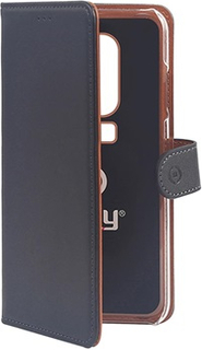 Celly Wally OnePlus 6 Cover med Pung - Sort