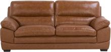 Sohva nahkainen ruskea HORTEN